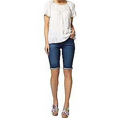 Dorothy Perkins - Ivory mesh lace insert top
