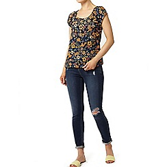 Dorothy Perkins - Navy floral gypsy top