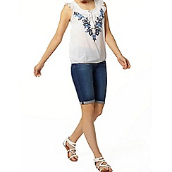 Dorothy Perkins - Embroidered tassel gypsy top