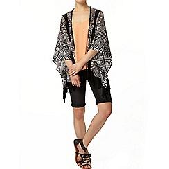 Dorothy Perkins - Black aztec print lace kimono