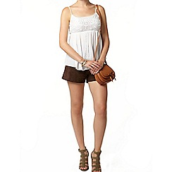 Dorothy Perkins - White lace front camisole