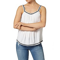 Dorothy Perkins - Ivory embroidered swing camisole top