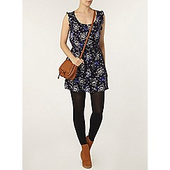 Dorothy Perkins - Navy floral button front tunic