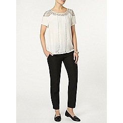 Dorothy Perkins - Ivory contrast lace top