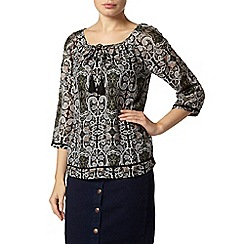Dorothy Perkins - Multicolour floral gypsy top