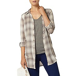 Dorothy Perkins - Grey longline check shirt