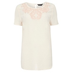 Dorothy Perkins - Tall blush cornelli detail top