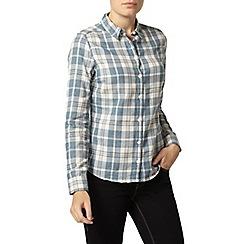 Dorothy Perkins - Blue textured check shirt
