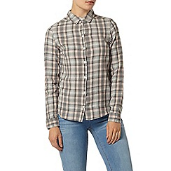 Dorothy Perkins - Grey pink linear check shirt