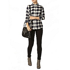 Dorothy Perkins - Navy and ivory check shirt