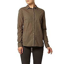 Dorothy Perkins - Khaki casual cotton shirt