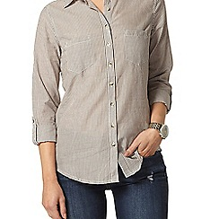Dorothy Perkins - Chocolate stripe casual shirt
