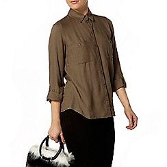 Dorothy Perkins - Khaki drape safari shirt
