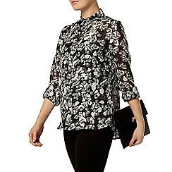 Dorothy Perkins - Khaki floral voile shirt