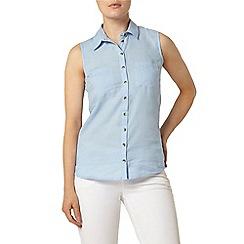 Dorothy Perkins - Sleeveless twill casual shirt