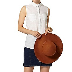 Dorothy Perkins - White sleeveless casual shirt