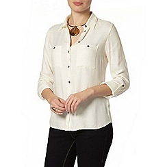 Dorothy Perkins - Ivory plain casual shirt