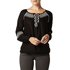 Dorothy Perkins - Embroidered tie gypsy top