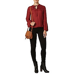 Dorothy Perkins - Russet ladder tie gypsy top