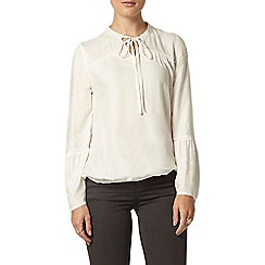 Dorothy Perkins - Ivory ladder tie gypsy top