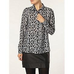 Dorothy Perkins - Navy ditsy floral shirt