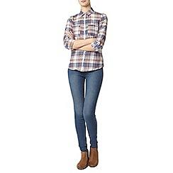 Dorothy Perkins - Tall: coral blue check shirt