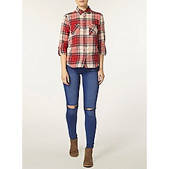 Dorothy Perkins - Red and navy check shirt