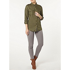 Dorothy Perkins - Khaki military shirt