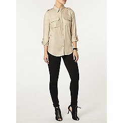 Dorothy Perkins - Stone military shirt