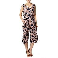 Dorothy Perkins - Navy floral culotte jumpsuit