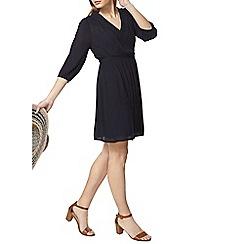 Dorothy Perkins - Navy lace trim wrap dress