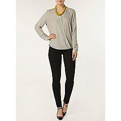 Dorothy Perkins - Grey plain wrap shirt