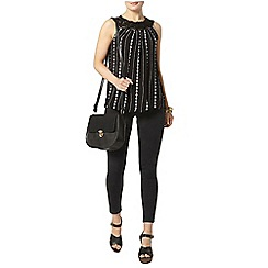 Dorothy Perkins - Macrame trim embroidered top