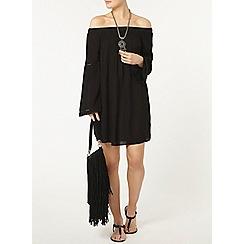 Dorothy Perkins - Black flare off shoulder dress