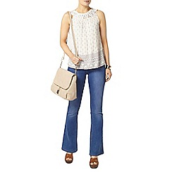 Dorothy Perkins - Macrame trim border print top