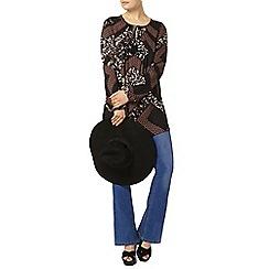 Dorothy Perkins - Black multi floral tie tunic