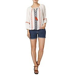 Dorothy Perkins - Contrast embroidered gypsy top