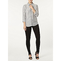 Dorothy Perkins - Grey and white stripe shirt