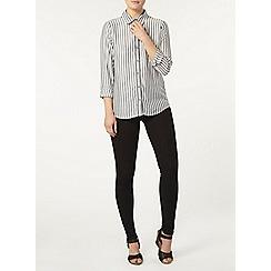 Dorothy Perkins - Grey and white stripe shirt