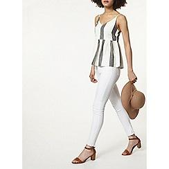 Dorothy Perkins - Striped peplum camisole top