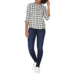 Dorothy Perkins - Ivory and grey gingham shirt