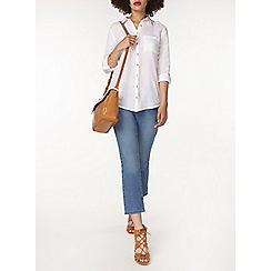 Dorothy Perkins - Ivory twill tab casual shirt