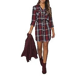 Dorothy Perkins - Check belted shirt dress