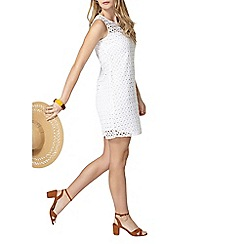 Dorothy Perkins - Ivory shift broderie dress