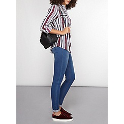 Dorothy Perkins - Tall berry navy stripe shirt