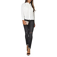 Dorothy Perkins - Cornelli ruffle front blouse