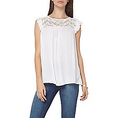 Dorothy Perkins - Tall ivory lace yoke top