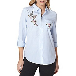 Dorothy Perkins - Floral embroidered shirt