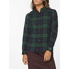 Dorothy Perkins - Green yoke detail check shirt