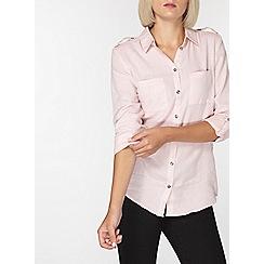 Dorothy Perkins - Pink herringbone shirt